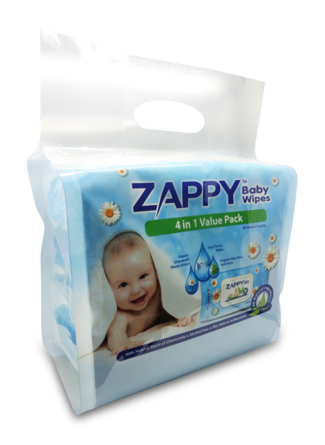 Zappy Baby All Natural Ingredients Wet Wipes 80 Sheets